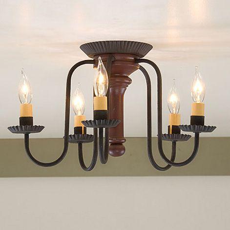 primitive lighting fixtures. berkshire ceiling light in sturbridge red primitive lighting fixtures