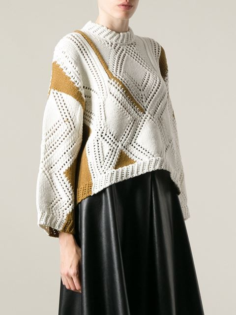 3.1 Phillip Lim Geometric Pattern Sweater