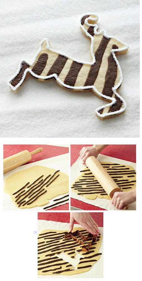 Striped Reindeer Cookies