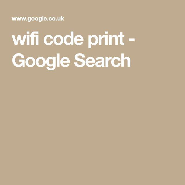 wifi code print - Google Search