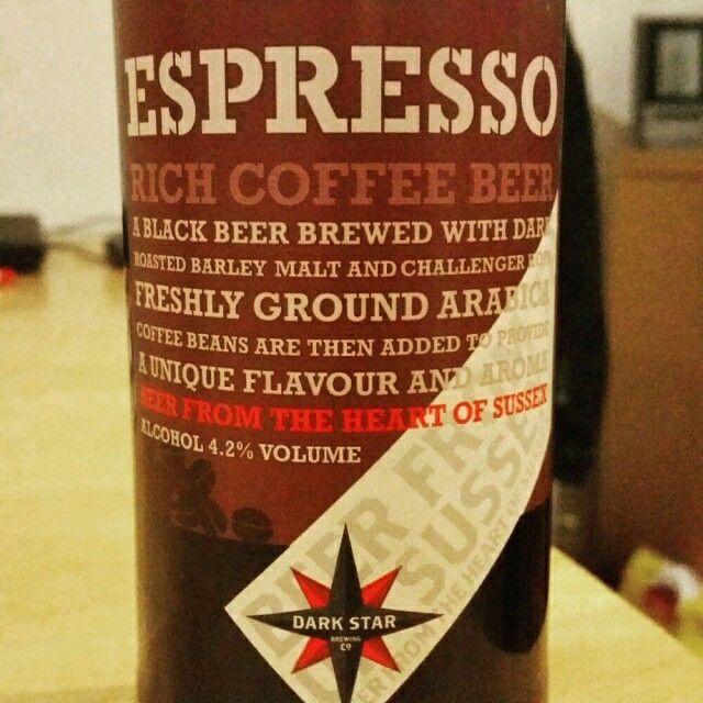 Smooth coffee bitterness. Nice. - Drinking a Espresso by Dark Star Brewing Co
