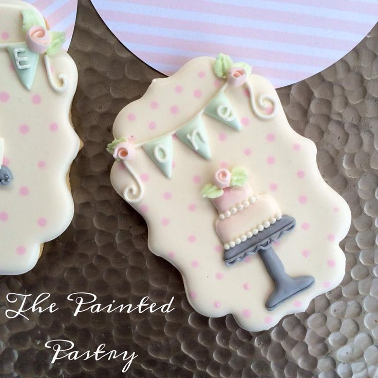 First Birthday Cookie Favors | Cookie Connection....just the banner would be darling