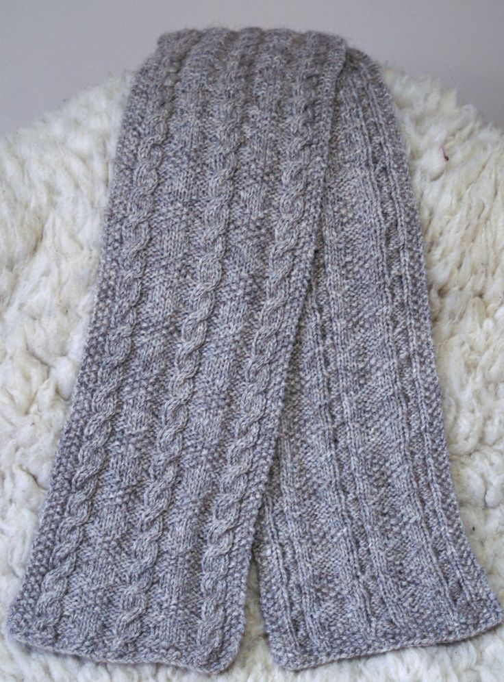 Ravelry: Cable and Diamond aran weight scarf by Elizabeth ...