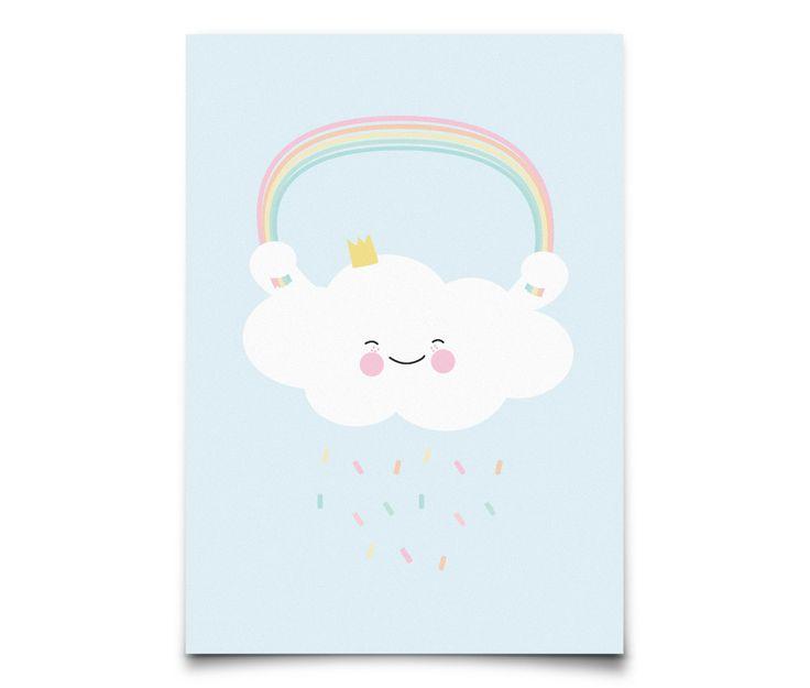 Queen Cloud Mini Print/ Postcard