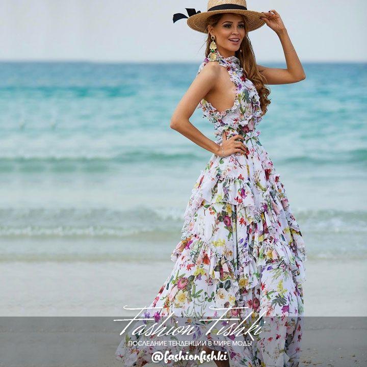 """Великолепное летящее платье принт """"Травы Прованса"""" из круизной 🚢коллекции Maison💕💕💞 👉@angelann_afi_mall"""