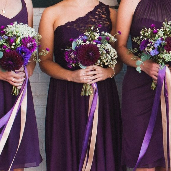 One-Shoulder Lace Bridesmaid Dress