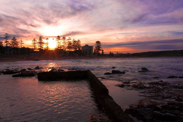 Sunset over Dee Why Beach, NSW Australia  Copyright of Jo Thom