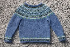 "Free knitting pattern! ""Fimma"" Icelandic sweater (kids' sizes 4, 6 & 8 years)                                                                                                                                                                                 More"