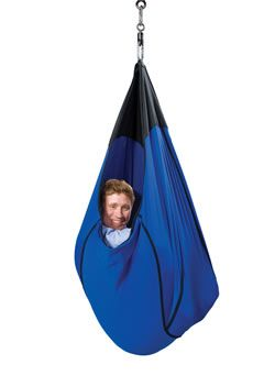 Sensory:  Adult cuddle swing is great for a sensory room