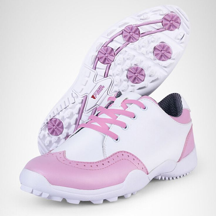 PGM Golf Shoes Women Sport Pink Women Golf Shoes Leather Brand Sneakers Waterproof Zapato Golf Mujer Golfschuhe Damen
