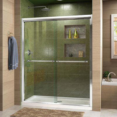 Dreamline Duet 44 W X 72 H Bypass Sliding Semi Frameless Shower