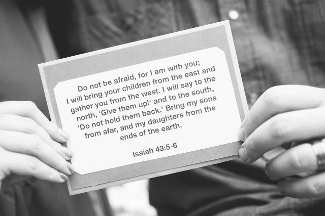 Our verse we cling to // adoption announcement photos:   by Jayson Mullen Design & Photography