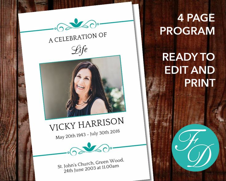 272 best Funeral Programs for Women Programs \ Prayer Cards - free printable memorial service programs