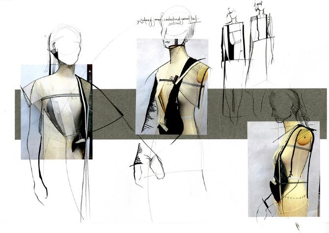 Fashion Sketchbook - fashion design drawings; fashion sketches & design development; fashion portfolio // Louise Bennetts