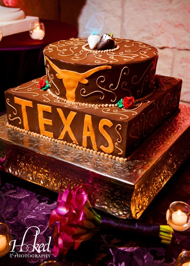 """It's not a true """"Austin"""" wedding without a University of Texas Longhorns-themed grooms cake!"""