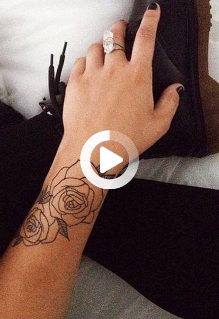 Black Rose Forearm Tattoo Ideas for Women