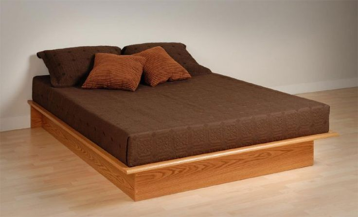 Gorgeous platform bed queen with brown bedding