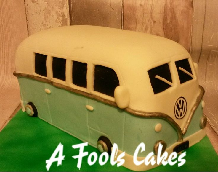 Campervan cake for campervan lovers! #VW #afoolscakes