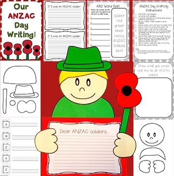 ANZAC DAY Craftivity! Perfect for grade 1, 2, and possibly 3 (year 0, 1, 2, and 3 in New Zealand). An awesome craft activity that children will love! Includes ABC sort, acrostic poem and craftivity.   https://www.teacherspayteachers.com/Product/ANZAC-Day-Craftivity-ANZAC-Day-Writing-Craftivity-1776960