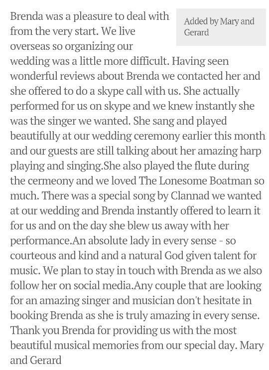 #weddingsinger #mayo #galway