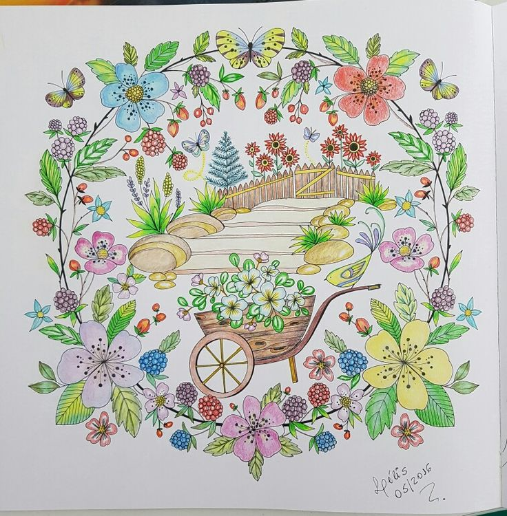 cd824050190c8d6391209b0ce65fbfb5  color pencil techniques garden illustration