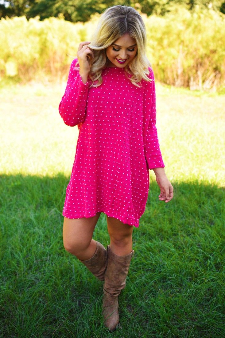 Falling For Fall Tunic: Hot Pink #shophopes