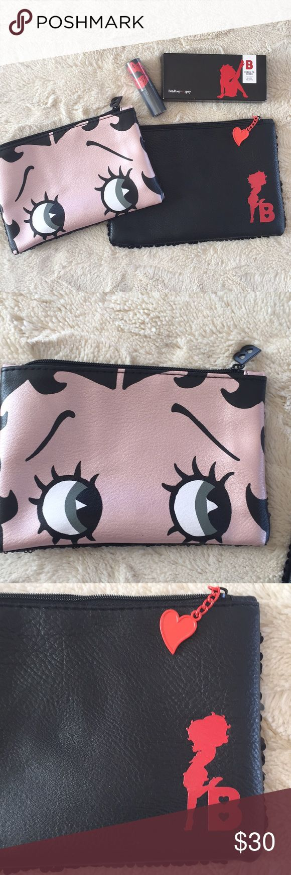Betty Boop Makeup Bags Blush Palette Lipstick NWT in 2020