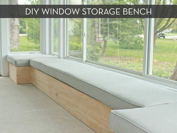 Make It: Custom DIY Window Bench -- with Storage!