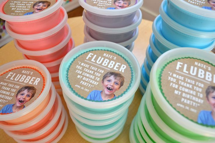 Flubber party favor + best flubber recipe.   Made this for kiddo's party.   Easy to make and I think well received.