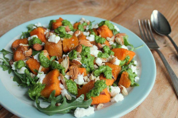 I Love Health | Zoete aardappel salade met geitenkaas