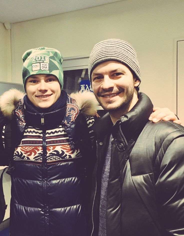 Denis Vasiljevs(Latvia) and Stephan Lambiel(Swiss)