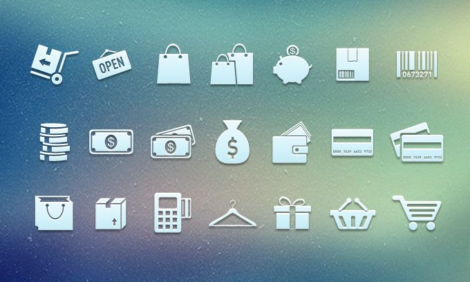 Shopping Icons - 365psd