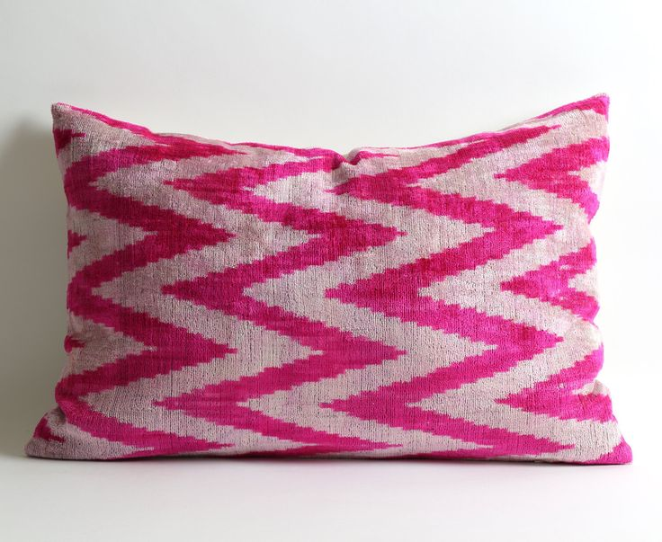 Pink Velvet Pillow Cover, Pink Chevron Pillows Designer Throw Pillow Decorative Throw Pillow Couch Hot Pink Pillow Candy Pink Zig Zag Pillow by pillowme on Etsy https://www.etsy.com/listing/273460016/pink-velvet-pillow-cover-pink-chevron