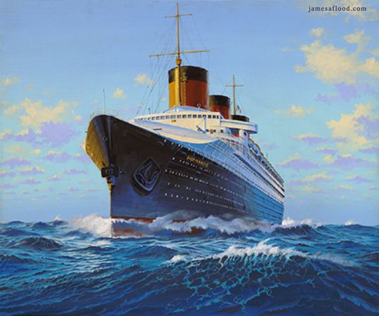 SS Normandie of Compagnie Generale Transatlantique (French Line) is considered by many to be the most beautiful liner ever built, yesterday and today.