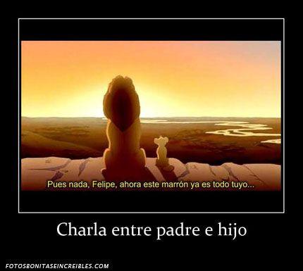 Charla entre padre e hijo - http://www.fotosbonitaseincreibles.com/charla-entre-padre-e-hijo/