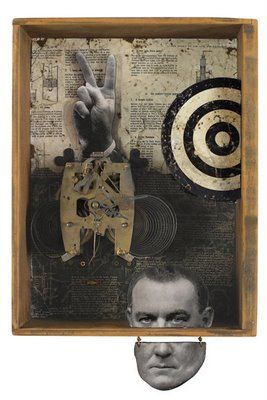 """The Peace Machine"" by Kass Copeland... #assemblage GREAT very Joseph Cornell. Too Good."