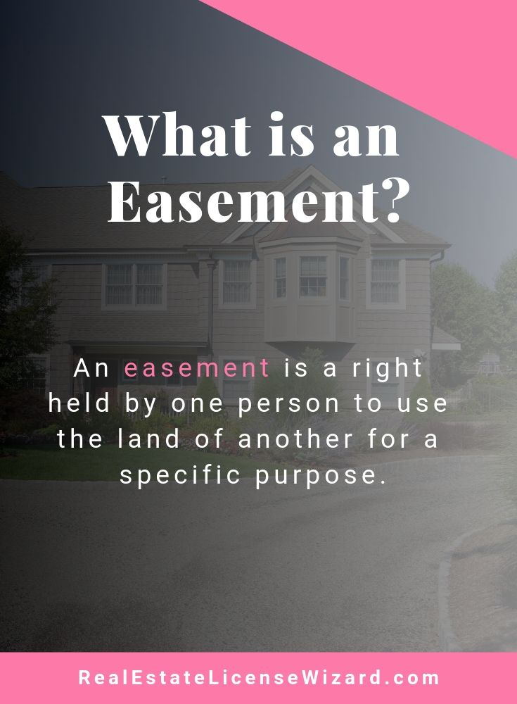 Easement With Images Real Estate License Real Estate Exam