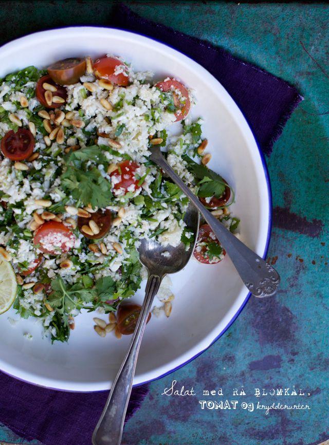 Salat med revet blomkål
