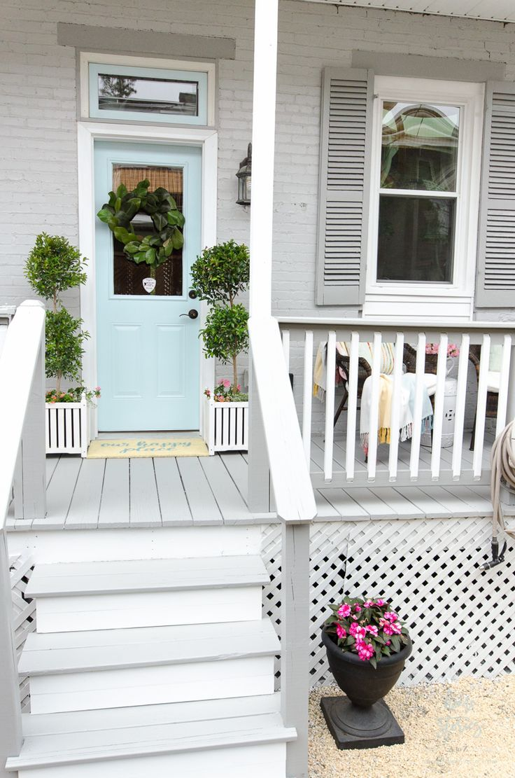 How To Transform A Porch With Behr Paint Painted Front Porches