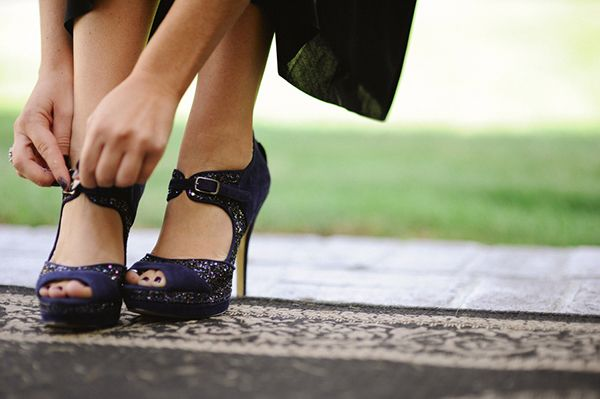 Gorgeous Sparkling Black Bridesmaid Shoes | Tonie Christine Photography | See More! http://heyweddinglady.com/fresh-and-chic-modern-rustic-w...