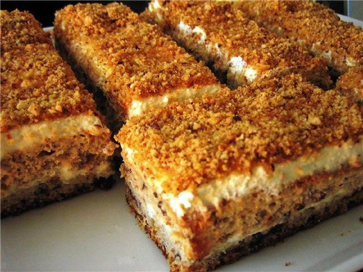 Ingrediente: Pentru aluat: 2 ouă; 125 g de zahăr; 100 g de stafide brune trecute prin mașina de tocat carne; 125 ml de lapte; o linguriță de bicarbonat de sodiu stins cu oțet; 130-140 g de făină. Pentru cremă: ½ conservă de lapte condensat; 250 ml de smântână pentru frișcă; alune măcinate (opțional). Mod de preparare: Separați albușurile de gălbenușuri. Bateți albușurile cu jumătate din zahăr. Bateți gălbenușurile cu zahărul rămas. Adăugați laptele, stafidele, bicarbonatul de sodiu (dând…