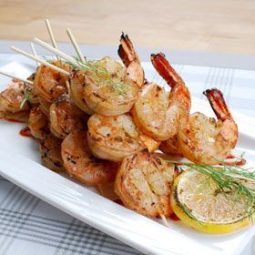 Ginger Lime Grilled Shrimp, a recipe from ATCO Blue Flame Kitchen's Hall of Flame 2007 cookbook.