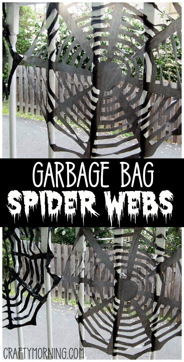 Trash Bag Garbage Bag Spider Web Decorations Find The Step By