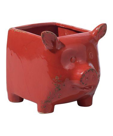 Love this Red Square Pig Planter on #zulily! #zulilyfinds
