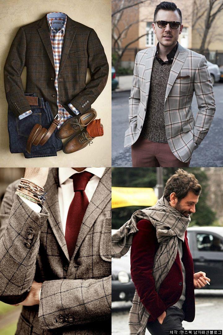 남자 겨울 클래식 코디, 윈도페인 체크패션으로 보다(windowpane fashion) :: Men's Look book