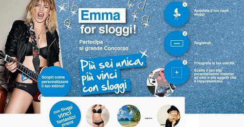 Vinci viaggio, incontro con Emma Marrone e completi intimi con Sloggy - http://www.omaggiomania.com/concorsi-a-premi/vinci-viaggio-incontro-emma-marrone-completi-intimi-sloggy/