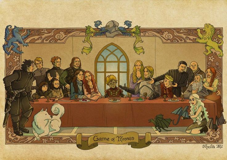 Tyrion plays Jesus in the Game of Thrones Last Supper