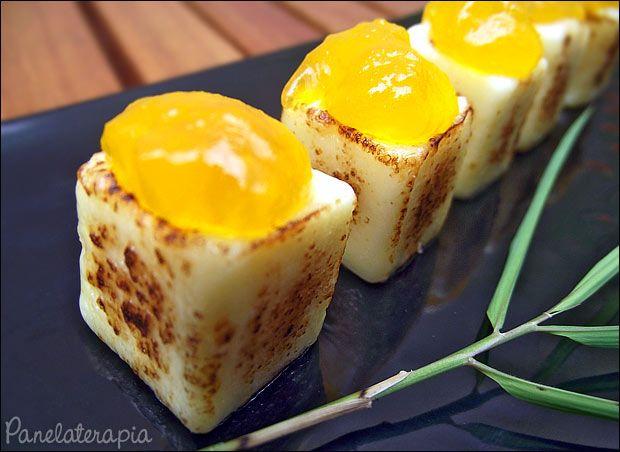 PANELATERAPIA - Blog de Culinária, Gastronomia e Receitas: Dadinhos de Queijo Coalho com Geléia de Manga