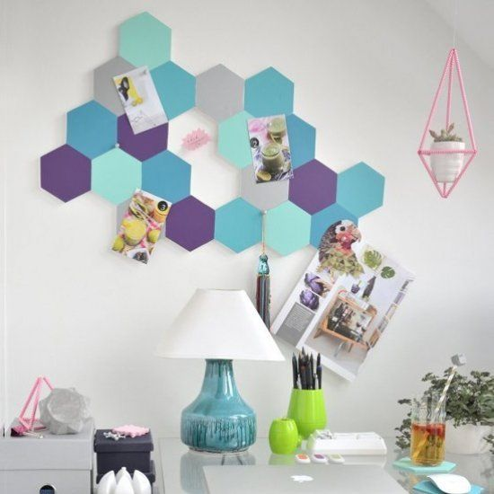DIY Honeycomb Pin Board