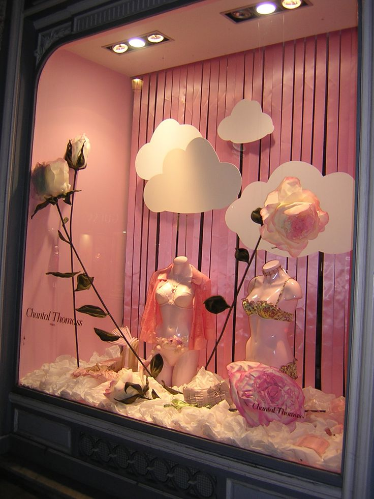Chantal Thomass Store Window #clouds
